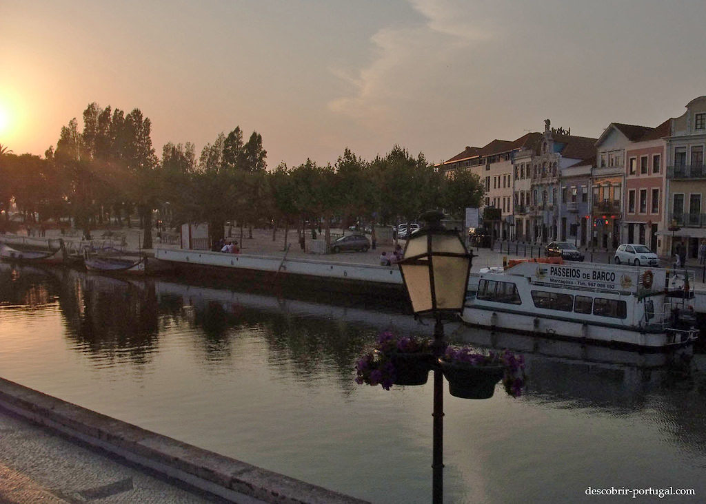 Pôr do sol em Aveiro