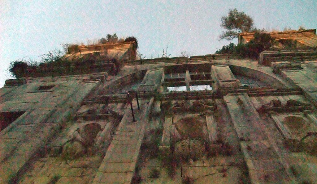 Pormenor da fachada do Mosteiro de Seiça