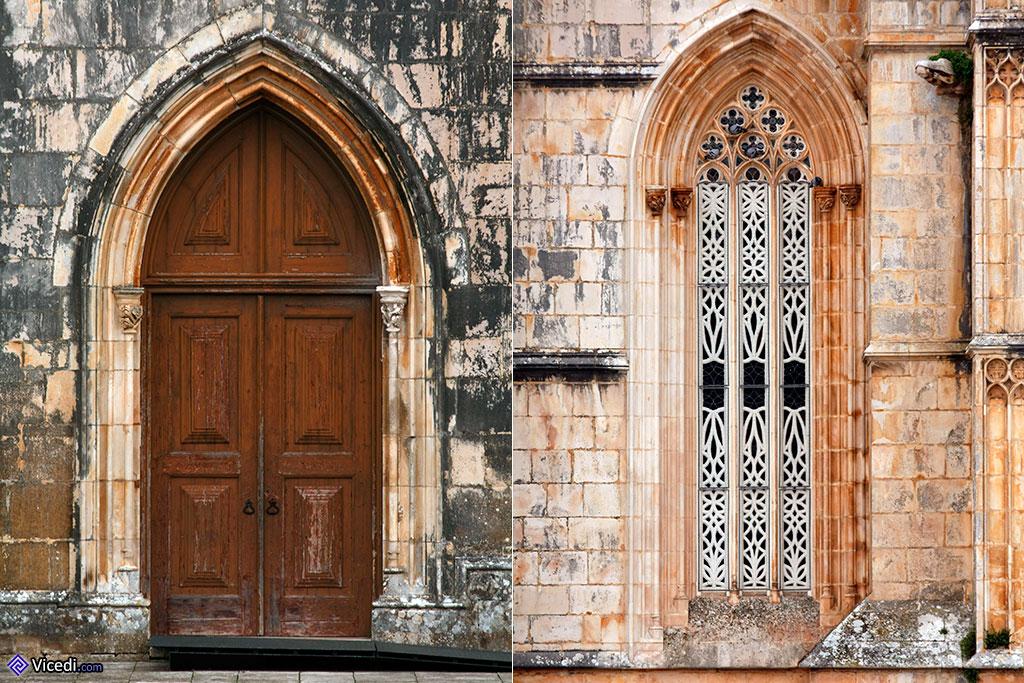 Na direita, podemos observar o trabalho de restauro