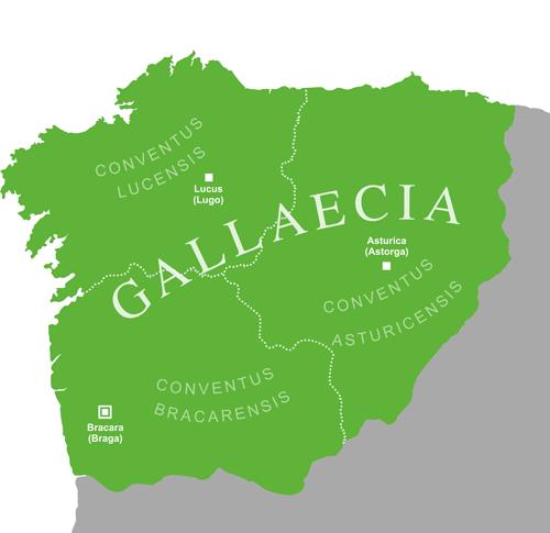 mapa da Gallaecia